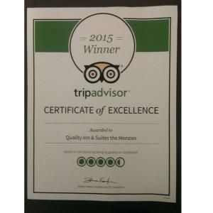 Cert of Excellence TripAdvisor